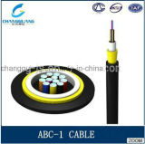 Acceso de la fuente de la fábrica de China que construye resistencia de fibra óptica del agolpamiento del cable y la lista de precios material flexible del cable óptico de fibra de la chaqueta ABC-I de LSZH