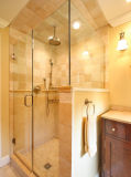 Portello di vetro libero dell'acquazzone di Frameless, acquazzone della stanza da bagno, portello dell'acquazzone