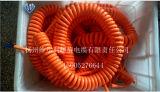 Véhicule électrique neuf d'énergie (EV) chargeant le câble spiralé