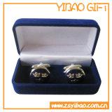 Cadre vert fait sur commande de velours pour l'emballage de médaille de pièce de monnaie (YB-VB-003)