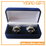 Kundenspezifischer grüner Samt-Ohrring-Kasten für Paket (YB-VB-003)