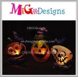 Neuer Ankunfts-Halloween-Kürbis-Metall-und Glas-Kerze-Halter