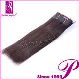 Extensão indiana do cabelo do ser humano inteiro do Weave 100% do cabelo do Virgin da venda