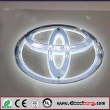Marchio dell'automobile dell'acciaio inossidabile del laser 3D di abitudine con i nomi per Toyota
