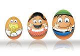 Huevo de regalo de estaño dulces caja de empaquetado (E001-V3)