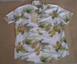 Hombres manga corta impresa playa camisas