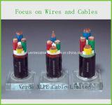 PVC 4core/изолированный XLPE провод электрического кабеля