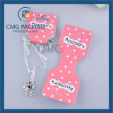 Blanco de PVC una tarjeta de joyería de impresión de color (CMG-078)