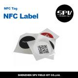 Adesivo de papel NTAG216 ISO14443A do HF 13.56MHz da etiqueta de NFC