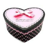 Caja de regalo del papel de la cartulina del chocolate de la forma del corazón de Whoesale