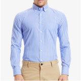 Chemise de robe formelle de chemise de mode de Mens de longue plaine faite sur commande de chemise