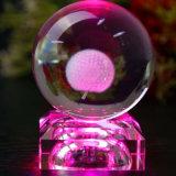 корабль кристаллический кубика лазера 3D стеклянный для подарков венчания дня рождения (ks25218)