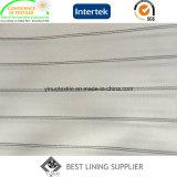 Fornitore lungo del tessuto del rivestimento del manicotto del vestito degli uomini in bianco e nero del poliestere