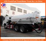 12000 Liter Sinotruck Abwasser-Saugförderwagen-Vakuumtanker-Förderwagen-