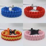 Hotsale Plastic Buckle Paracord Bracelet con Logo Engraved