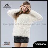 Пуловер мягкого высокого качества шерсти зимы длинний