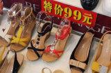 Magasin de chaussures en acrylique Clear Slatwall Support de repose-talon