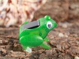 Солнечная сила ягнится лягушка Capering насекомого игрушки подарка интеллектуальная DIY солнечная 043-4