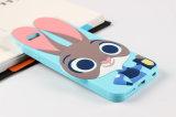 Caixa de borracha do telefone de pilha dos desenhos animados