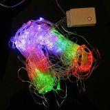 Celebración de días festivos de hadas de la decoración de las luces de la Navidad de la luz neta de la cadena del LED