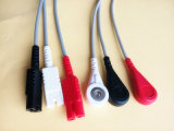 Cable del tronco ECG de Snap&Clip 10pin Ll 3 del DATEX