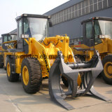 Wood Grass Grapple를 가진 Loader 3 톤