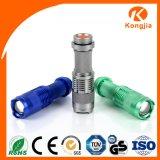 超明るい3W XPE LEDのアルミニウム毎日は小型懐中電燈のトーチライト再充電を運ぶ
