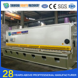 Máquina de corte hidráulica da placa de metal do CNC de QC12y