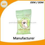 Trapos orgánicos del bebé de los trapos mojados hechos en fábrica del bebé del OEM