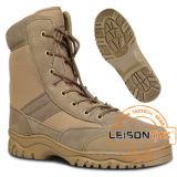 防水ナイロンおよび革靴の革の戦術的な砂漠ブート