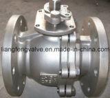 valvola a sfera dell'acciaio inossidabile dell'estremità della flangia 150lb