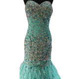 Повелительницы Delicated Evening Dress с Crystal Hand Sewn (ND16002)