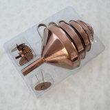 Entonnoir différent d'acier inoxydable de tailles, entonnoir réglé en métal 6PCS, petit entonnoir