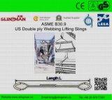 ASME B30.9 мы 4 подъемного стропа Webbing Ply (TS-W09-09)