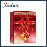 Подарки с Рождеством Христовым промотирования напечатанные бумагой с покрытием пакуя хозяйственные сумки