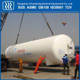 El tanque de almacenaje criogénico para el oxígeno líquido del nitrógeno del CO2