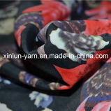 Tessuto chiffon stampato molle respirabile del poliestere per il vestito da estate