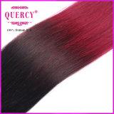 Colord 머리 바디 파 Ombre는 100%년 Remy 사람의 모발 연장을 묶는다