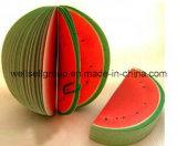 Almofada pegajosa Pocket Shaped do memorando da fruta/nota do escritório (melancia alaranjada da pera do pêssego da maçã)