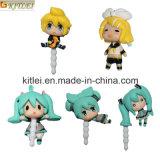 рисунок действия рисунок 5PCS милый Vocaloid Miku Анти--Пылезащитная штепсельная вилка Vocaloid Miku высокого качества