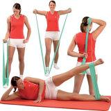 Alta correa de la yoga de la elasticidad, correa de la yoga del látex, venda del estiramiento