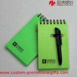Carnet matériel portatif de spirale de couverture de pp avec le crayon lecteur