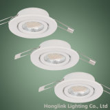 diodo emissor de luz Downlight de 3W 5W GU10 MR16 Brass Adjustable Recessed Ceiling