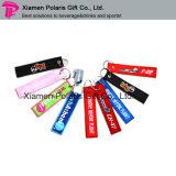 Fördernder Polyester-GepäckAppliquestickerei Kennsatz Keychain