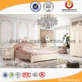 Живущий король Кровать крышки кожи деревянной рамки Elegent мебели комнаты (UL-FT001)