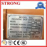 Saj - 60 M8z12 inversa de frenos anti - caída de dispositivos de seguridad para la construcción del alzamiento