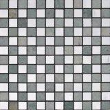 Acero inoxidable mixta de piedra de mármol del mosaico de azulejo (FYSM004)