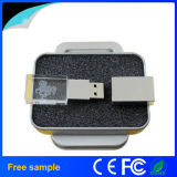 Do logotipo feito sob encomenda da gravura da amostra livre movimentação de cristal 8GB do flash do USB