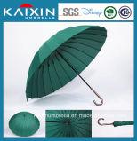 24 guarda-chuvas baratos do golfe do preço do vidro de fibra dos reforços