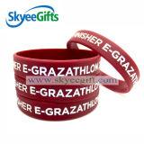 Bracelete do silicone da polegada de 1/2 com GV